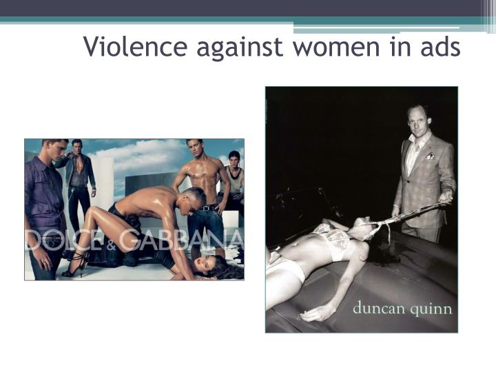 Violence against women in ads
