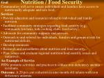 nutrition food security