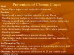 prevention of chronic illness