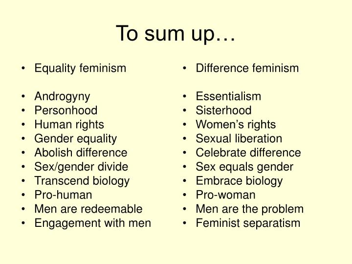 Sexual difference feminism