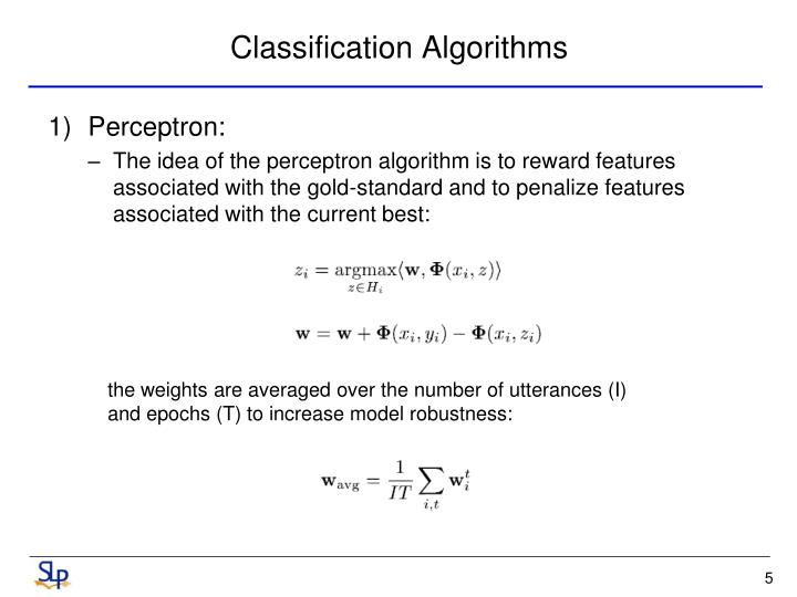Classification Algorithms