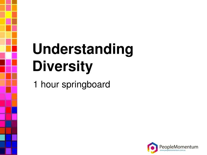 understanding aspects of diversity in a This section is an introduction to understanding culture, and will focus on: what culture is the importance of understanding culture in community building envisioning your cultural community how to get started in building communities that encourage diversity.
