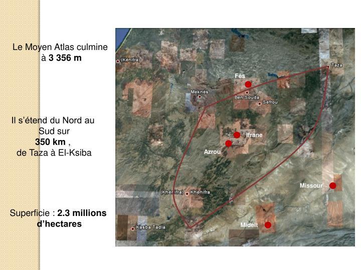 Le Moyen Atlas culmine
