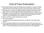 end of class evaluation