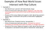 examples of how real world issues intersect with pop culture