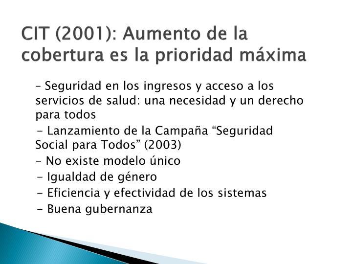 CIT (2001):