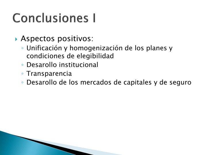 Conclusiones I