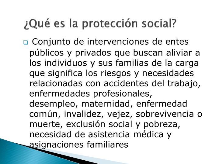 ¿Qué es la protección social?