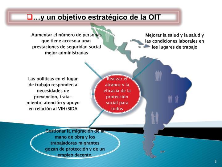 …y un objetivo estratégico de la OIT