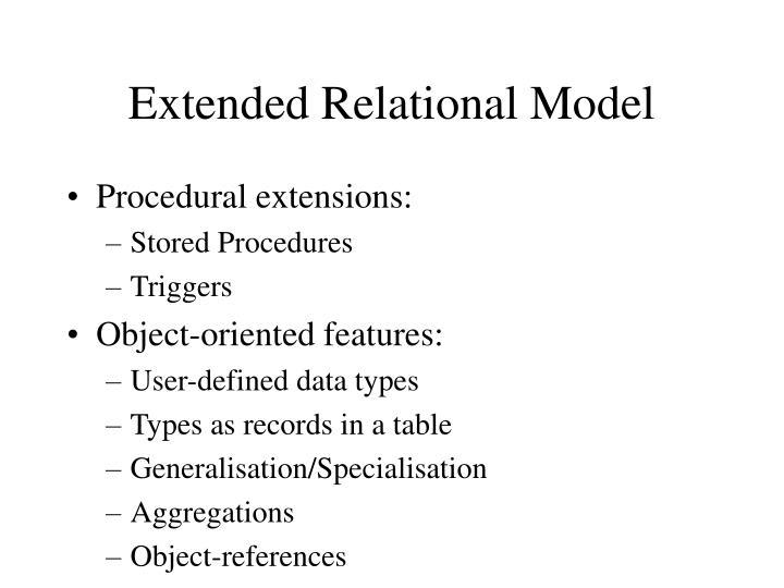 Extended Relational Model