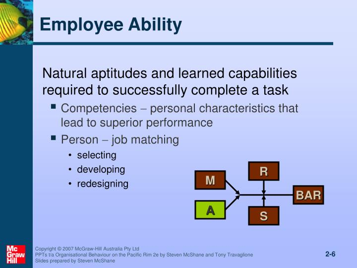 natural ability in organisational behaviour Mars model of individual behavior industrial psychology or organizational behavior studies ability ability is the natural tendency and learned capabilities needed to complete a task successfully it has four different parts namely.