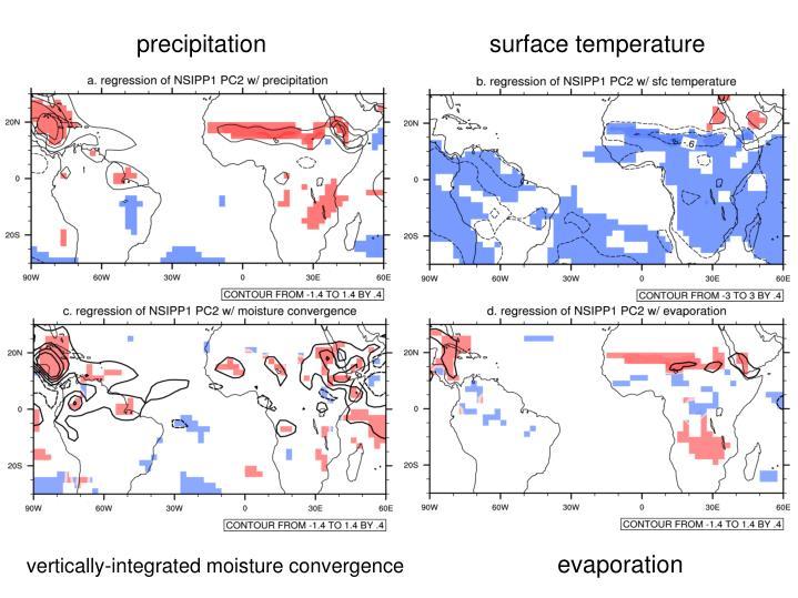 precipitationsurface temperature