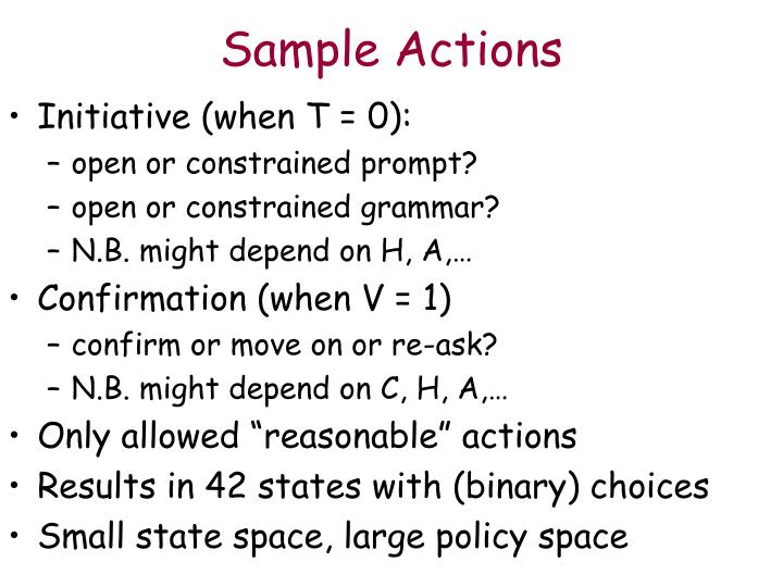 Sample Actions