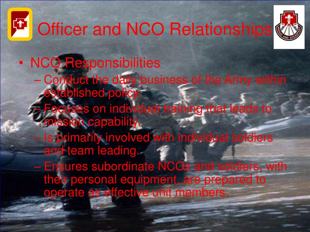 Lower enlisted dating nco