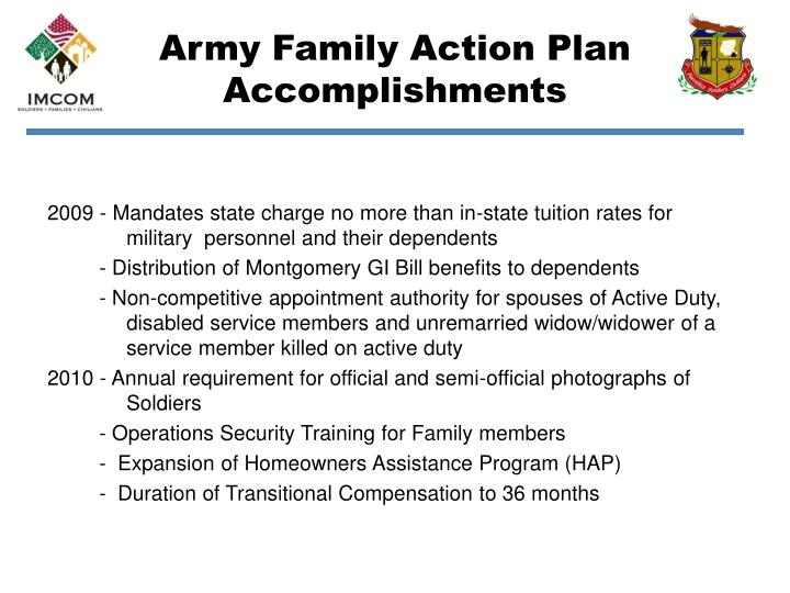 Army family action plan accomplishments2