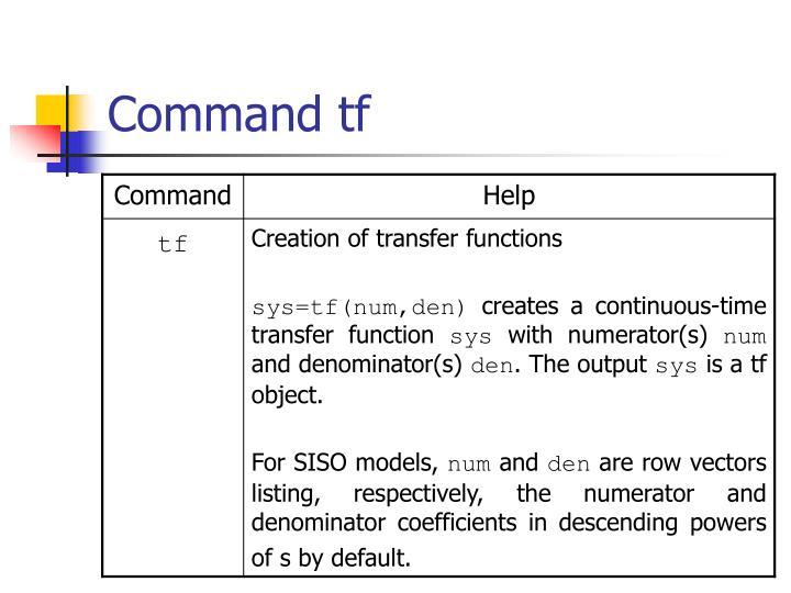 Command tf