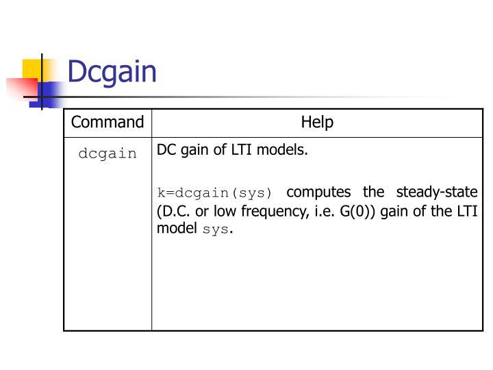 Dcgain