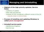 managing and uninstalling