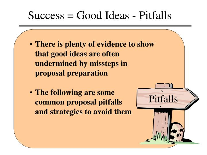 Success = Good Ideas - Pitfalls
