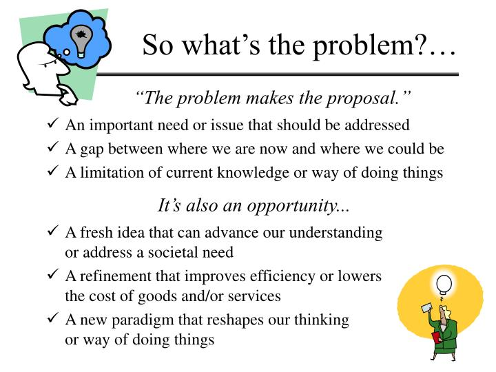 So what's the problem?…