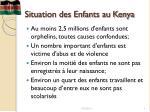 situation des enfants au kenya