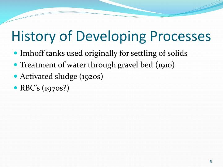 History of Developing Processes