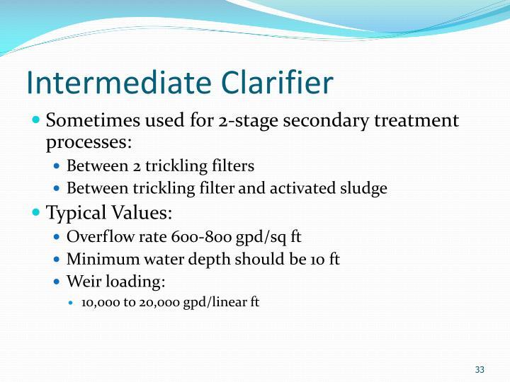 Intermediate Clarifier