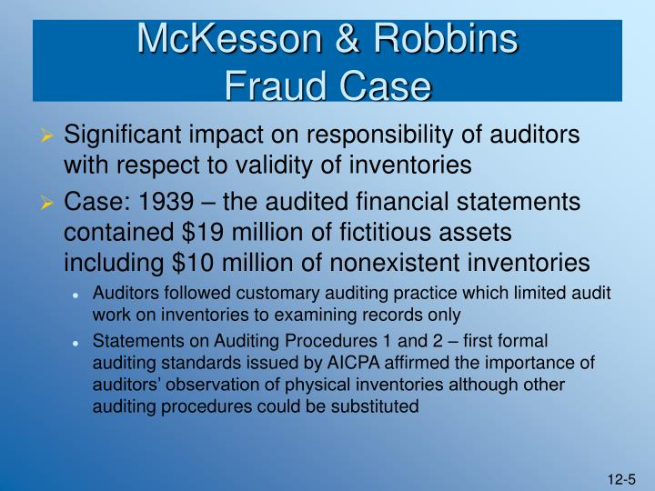 auditing and inventory fraud cases