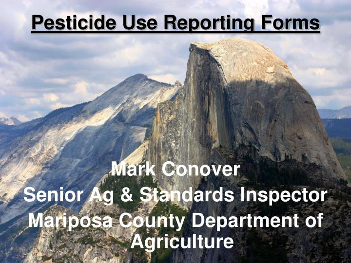 pesticide use reporting forms n.