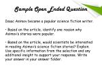 sample open ended question