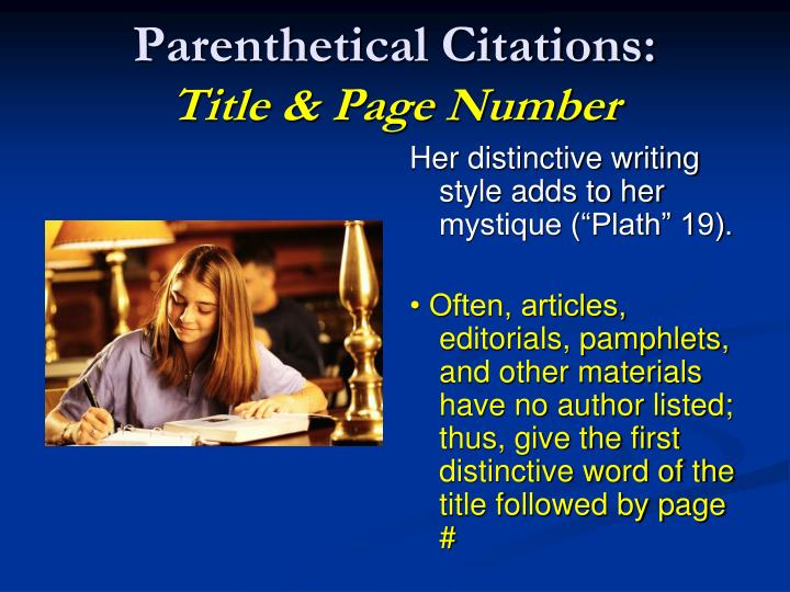Parenthetical Citations: