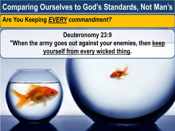 Comparing Ourselves to God's Standards, Not Man's
