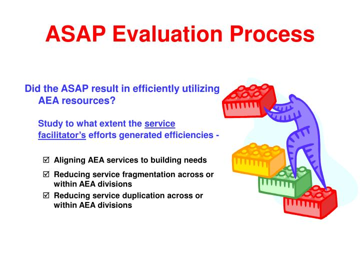 Did the ASAP result in efficiently utilizing AEA resources?