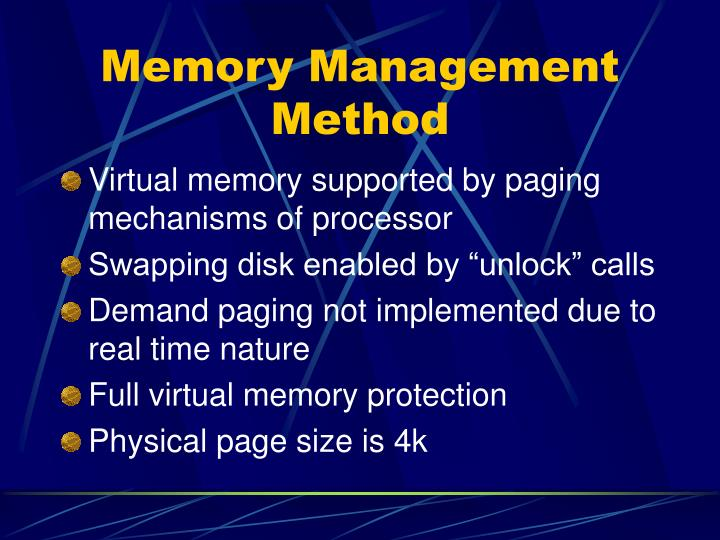 Memory Management Method
