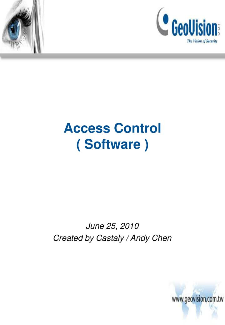 access control software n.