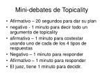 mini debates de topicality