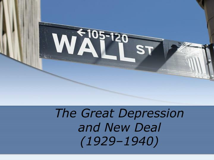 the great depression and new deal 1929 1940 n.