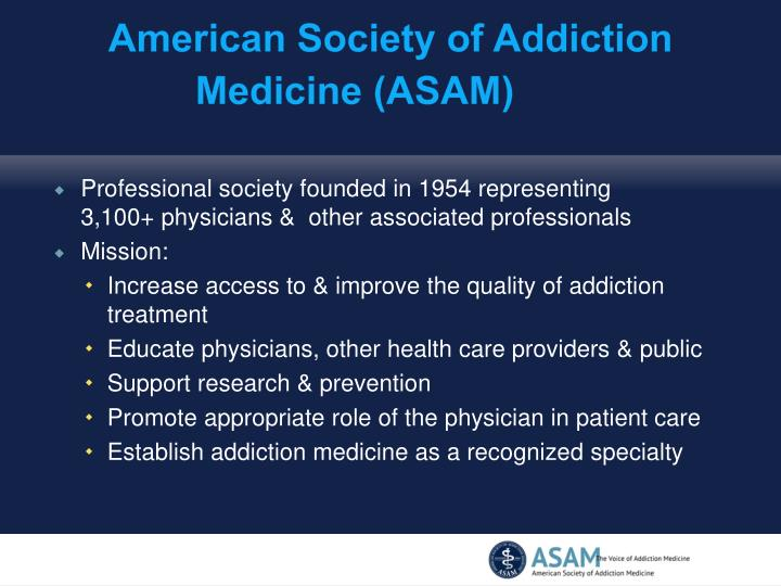 American society of addiction medicine asam