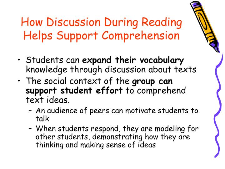How Discussion During Reading Helps Support Comprehension
