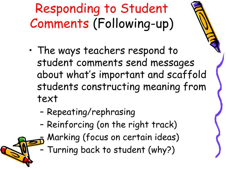 Responding to Student Comments