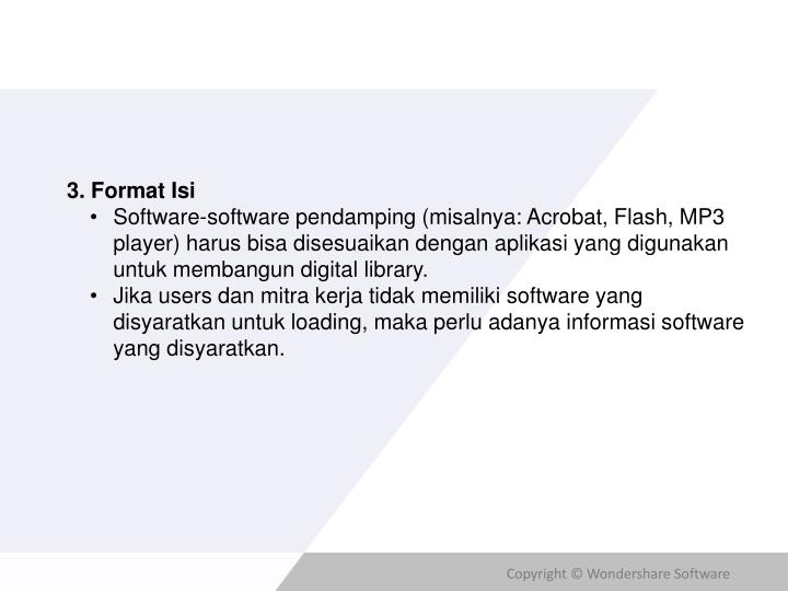 3. Format Isi
