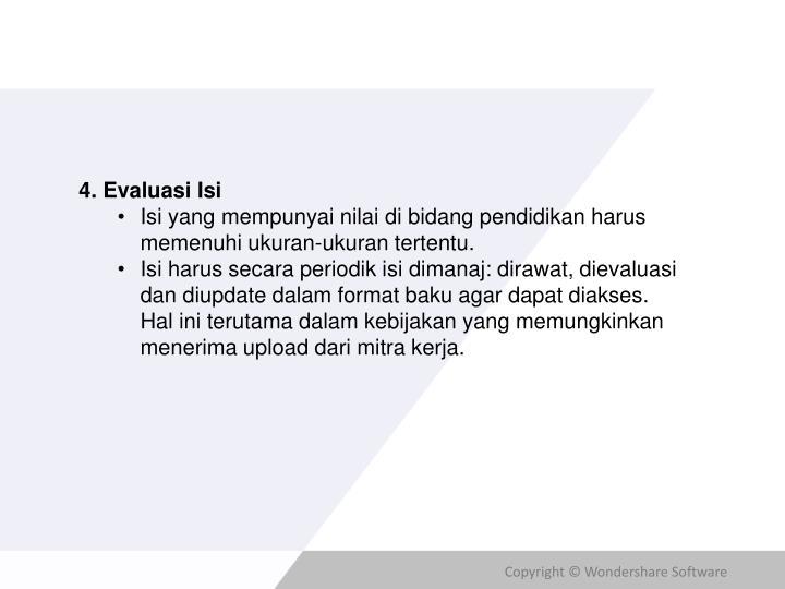 4. Evaluasi Isi