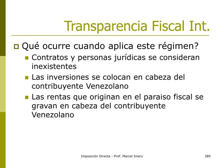 Transparencia Fiscal Int.