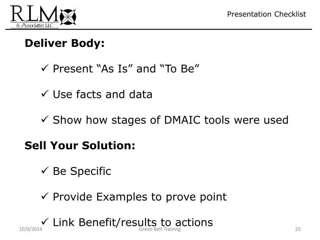 PPT - Lean Six Sigma DMAIC Workshop Green Belt Part 6 PowerPoint