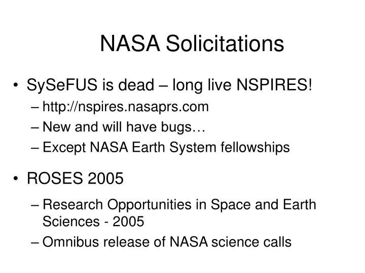 NASA Solicitations