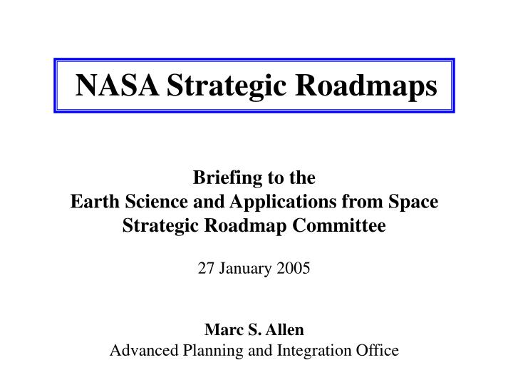 Nasa strategic roadmaps