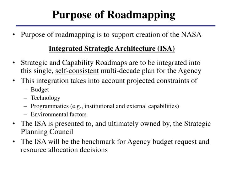 Purpose of Roadmapping