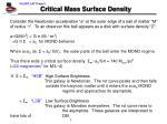 critical mass surface density