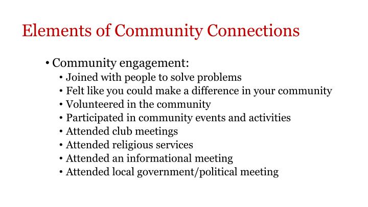 Elements of Community