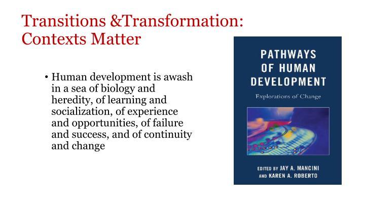 Transitions &Transformation: